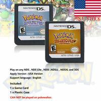 Pokemon Platinum Diamond HeartGold SoulSilver Game Cards 3DS NDSI XL