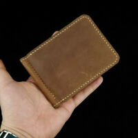 [NEW] Men's Minimalist Leather Bifold Wallet with Money Clip