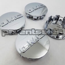"(4) 83mm 3.25"" GMC style Center Caps Chrome 20"" 22"" 24"" wheels 14-17 Truck SUV"