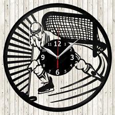 Hockey Sport Vinyl Record Wall Clock Decor Handmade 1686