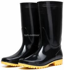 PVC Men's Abrasion Rain Shoes Anti Slip Rain Boots Low Heel High Top Galoshes