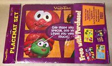 Big Ideas Veggie Tales Set Of 4 Plastic Placemats NEW - RARE!!