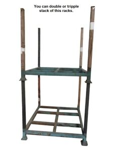 Tier racks, warehouse rack, stack-able rack, easy move around by pallet jack