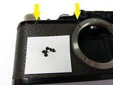 6 Black screws set for Leica body 1 2 3 Standard Repair parts Chrome