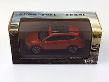 1:43 Volkswagen All New Tiguan L Orange Diecast Metal Model