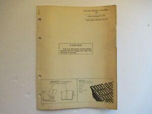 1965 John Deere 207 Gyramor rotary cutter parts catalog PC-555