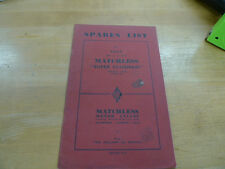 1954 MATCHLESS G-9 NOS PARTS BOOK