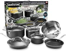 Granite Stone 10-Piece Nonstick Pots and Pans Cookware Set, Ultimate Durability