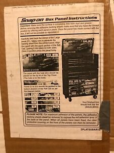 Snap On Tool Box Decal Subaru Wrc2008 40inch Type #2