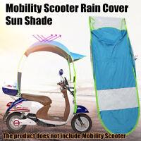Blau Schirm Sonnenschirm Regenschirm für Elektromobil Elektro Roller