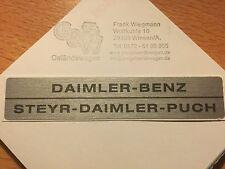 Mercedes G Klasse Emblem Aufkleber Symbol Schild DAIMLER BENZ STEYR DAIMLER PUCH