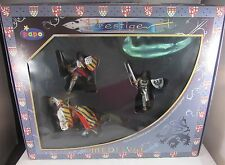 PAPO PRESTIGE MEDIEVAL HAND PAINTED COLLECTABLE FIGURINES W/ STRIPED HORSE