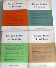 RASSEGNA ITALIANA DI SOCIOLOGIA IL MULINO 1966 ANNO 7 ANNATA COMPLETA