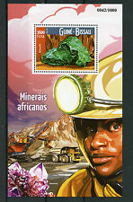 Guinea-Bissau 2015 MNH African Minerals 1v S/S Mining Malachite