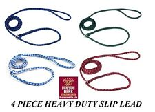 4 PET DOG ANIMAL CONTROL No SLIP HEAVY DUTY LEAD LEASH Grooming Kennel Training