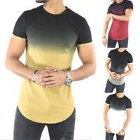 Fashion Men Casual Tops T-Shirt Short Sleeve O-Neck Slim Fit Muscle Shirts Tees