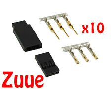 10x jst-sh servo plug ensembles-JR plug version-Plaqué Or Contacts X10 m