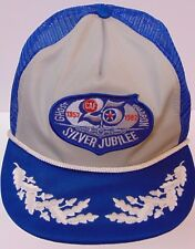 Vtg 1982 GHOST SQUADRON SILVER JUBILEE Air Force BOMBER ADVERTISING Snapback Hat
