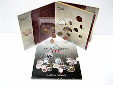 Rare SET LATVIAN COINAGE 1992 8 pcs collectible LATs SANTIMs Latvia coins USSR