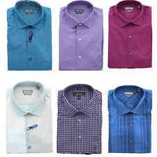 Kenneth Cole Dress Shirt Men's Reaction Wrinkle Free No Iron Slim Fit