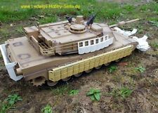 M1 Abrams Heng Long RC Tank Tusk II pages blindage