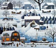 Charles Wysocki Plumbelly's Playground Stretched Canvas-Signed and Numbered