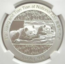 CHINA 2014 1oz SILVER PANDA MEDAL -SMITHSONIAN INSTITUTION- NGC PF69 ULTRA CAMEO