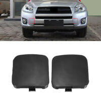 Black Front Bumper Tow Hook Eye Cover Cap  For Toyota RAV4 2009-2012