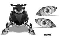 Snowmobile Headlight Eye Graphics Kit Decal Cover For Arctic Cat Firecat CRRPT W