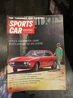 SPORTS CAR GRAPHIC Magazine October 1966 GHIA 450ss / FIAT 850 Coupe