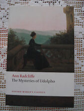 ANN RADCLIFFE The mysteries of Udolpho in inglese ed. Oxford 2008 Romanzo Gotico