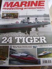 MARINE MODELLING JUNE 2013 24 TIGER GERMAN TORPEDO BOAT ROBBE POLICE BOAT