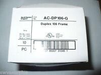 Pass & Seymour Legrand AC-DP106-G Duplex 106 Frame, Box of 10, Gray, New