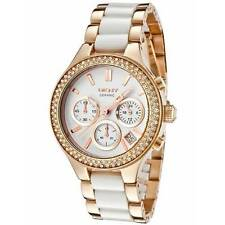 *NEW* DKNY NY8183 LADIES CHAMBERS ROSE GOLD CERAMIC WATCH - RRP £229.00