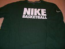 NIKE REGULAR FIT LONG SLEEVE GREEN BASKETBALL T-SHIRT MENS 2XL EXCELLENT COND.