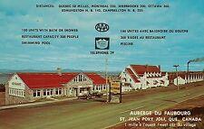Auberge du Faubourg Motel & Restaurant St. Jean Port Joli Quebec Canada Postcard
