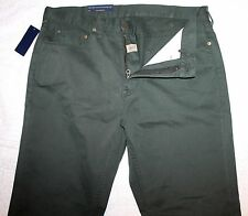 Polo Ralph Lauren Mens Dark Olive Green 5-Pocket Jeans Pants NWT 31 x 30