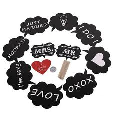 11 PCs Wedding Photo Booth Props Favors Party DIY Write On A Stick Photography
