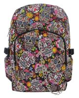 SUGAR SKULL Mexican Tattoo Backpack Rucksack School College Goth Rock Punk Bag