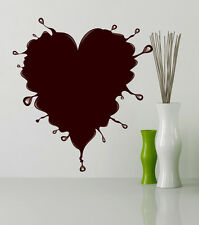 ced236 Full Color Wall decal Sticker heart love chocolate living room bedroom