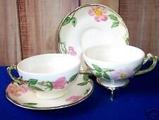 Vintage Franciscan Pottery Desert Rose 2 Cup & Saucer Sets USA