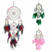 Colorful Wind Chimes Handmade Dream Catcher Net With Feathers Wall Hanging Dream