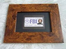 X-files 9x7 prop replica dana scully FBI id business card special agent framed