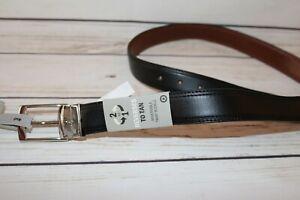 "TARGET Brand Men's Black Tan Reversible Faux Leather Belt Size 34"" NEW #BEL3"