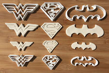 6pcs Super Heroes Batman Wonder Woman Superman Cookie Cutter Cake Decor