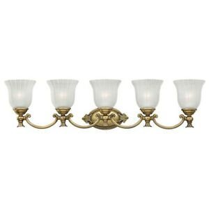 Hinkley Lighting Francoise 5 Light Bath Light, Burnished Brass - 5585BB