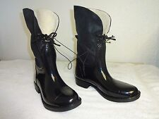 Women's Black Rubber Ankle Boots Rain Boots Merona Size 7 ,free shipping.