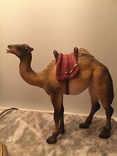 Rare Henning Norway Carved Wood Christmas Nativity Camel 7 Inches Tall
