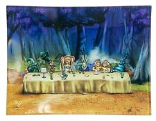 V Syndicate Glass Rolling Tray (Alice Tea Party) 5'' x 6.5''