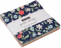 "Garden Variety Moda Charm Pack 42 100% Cotton 5"" Precut Fabric Quilt Squares"